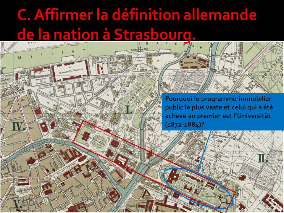Pourquoi le programme immobilier public le plus vaste et celui qui a été achevé en premier est lUniversität (1872-1884)?