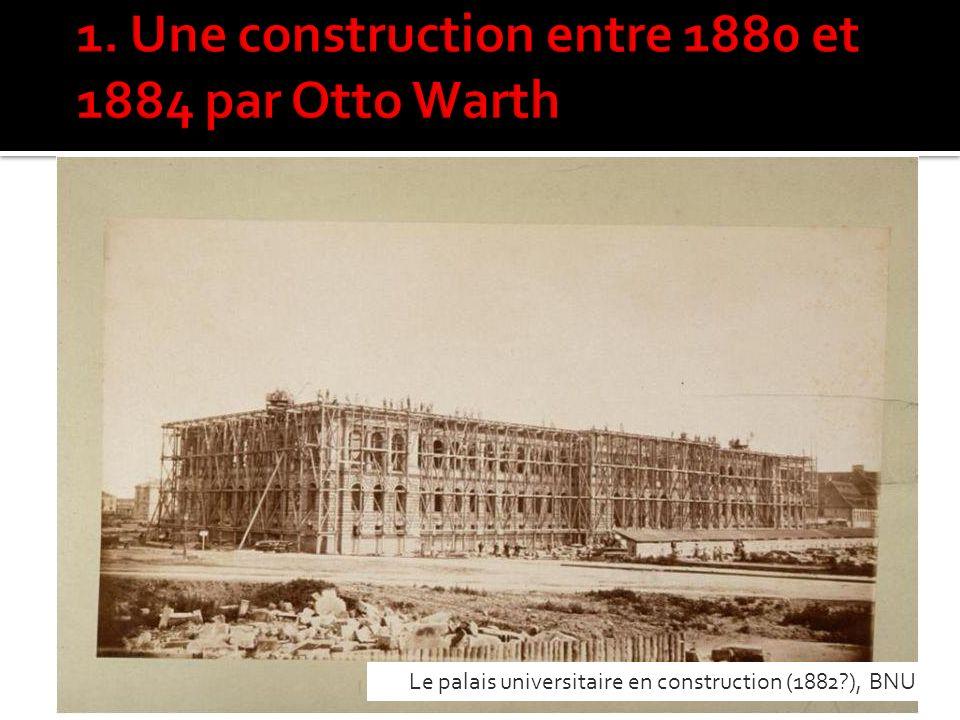Le palais universitaire en construction (1882?), BNU