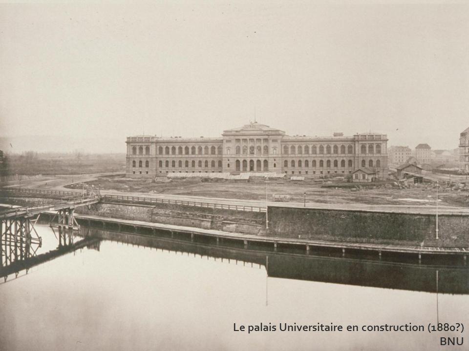 Le palais Universitaire en construction (1880?) BNU