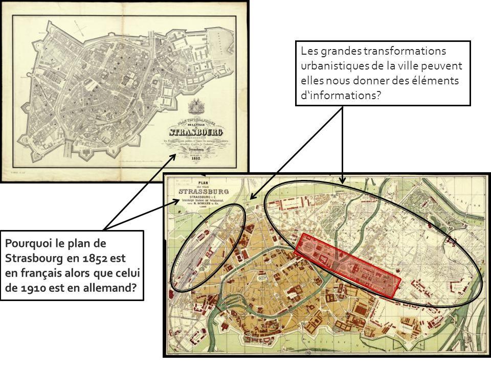 Les grandes transformations urbanistiques de la ville peuvent elles nous donner des éléments dinformations?