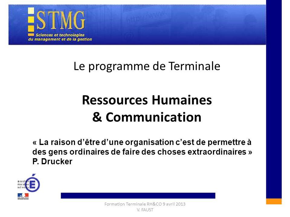 CONSTRUIRE UNE REPONSE A LAQUESTION DE GESTION :CONSTRUIRE UNE REPONSE A LAQUESTION DE GESTION : Le programme de Terminale Ressources Humaines & Commu