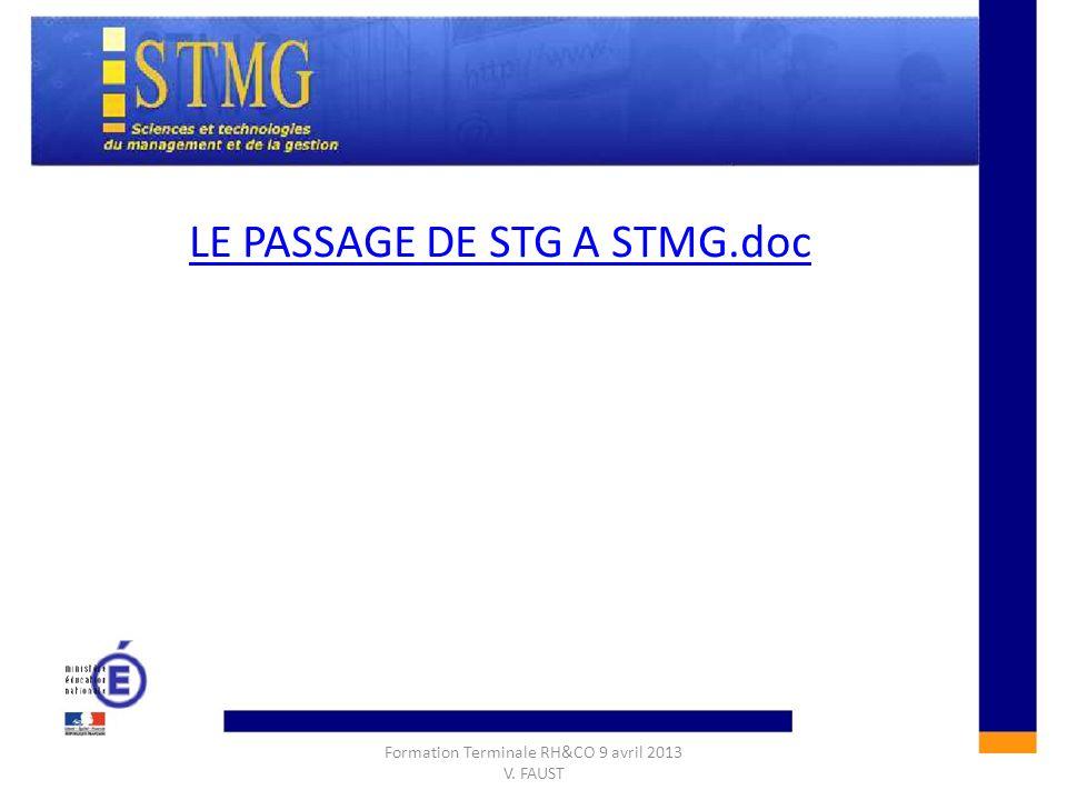 CONSTRUIRE UNE REPONSE A LAQUESTION DE GESTION :CONSTRUIRE UNE REPONSE A LAQUESTION DE GESTION : LE PASSAGE DE STG A STMG.doc Formation Terminale RH&C