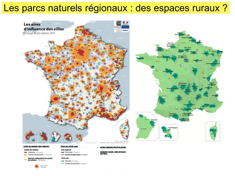 Les parcs naturels régionaux : des espaces ruraux ?