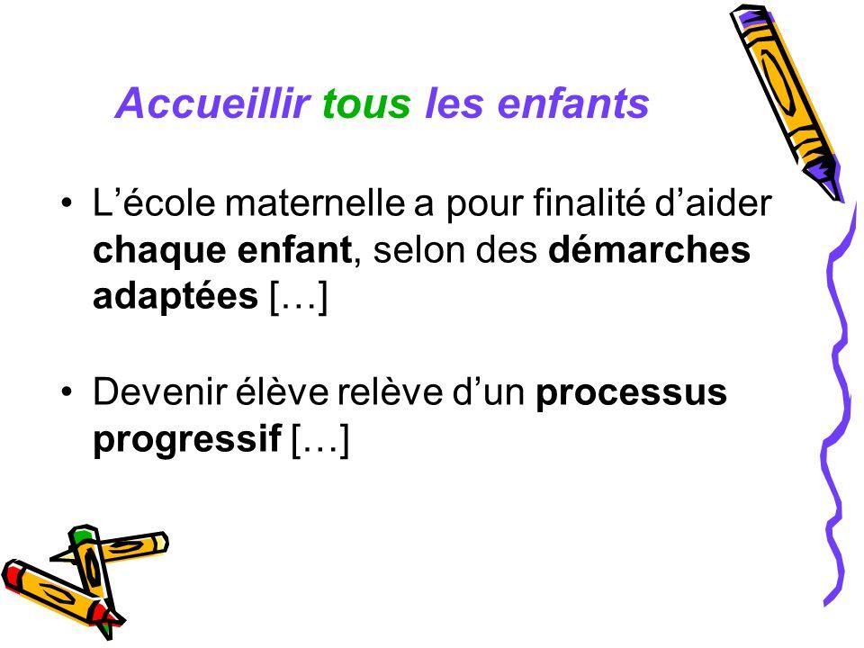 La scolarisation dun enfant est un droit Les enfants français ou étrangers peuvent [y] être accueillis à partir de trois ans.