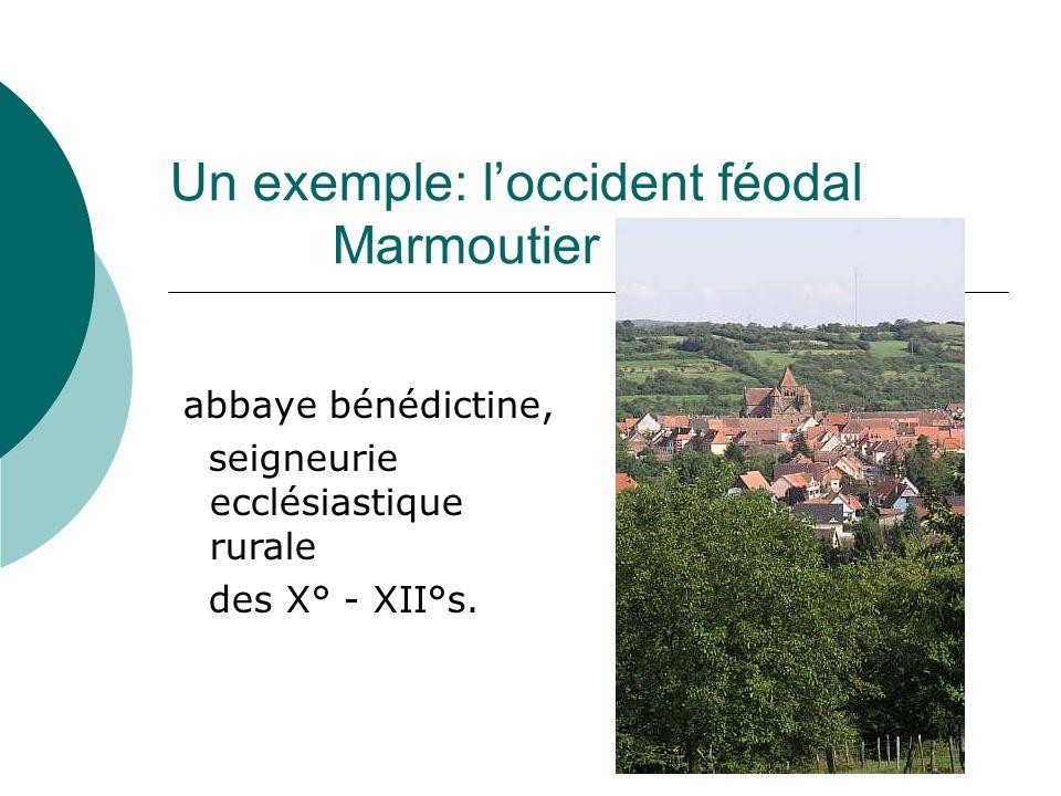 Un exemple: loccident féodal Marmoutier abbaye bénédictine, seigneurie ecclésiastique rurale des X° - XII°s.