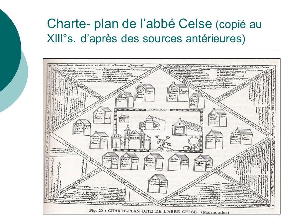 Charte- plan de labbé Celse (copié au XIII°s. daprès des sources antérieures)