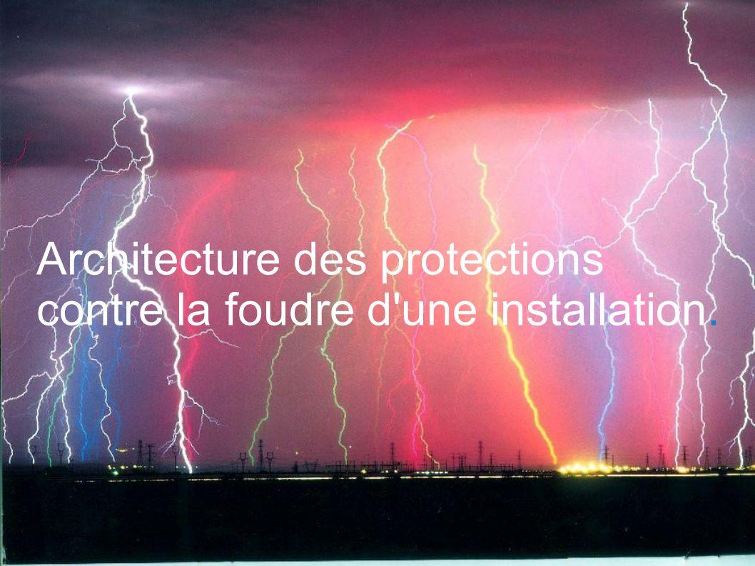 Architecture des protections contre la foudre d'une installation.