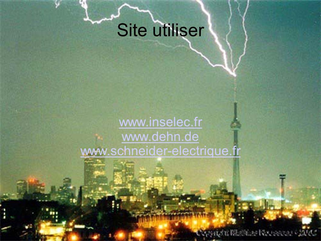 Site utiliser www.inselec.fr www.dehn.de www.schneider-electrique.fr