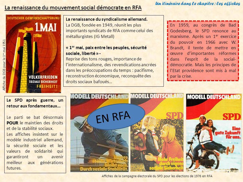 Un itinéraire dans le chapitre : les affiches Affiche du DGB pour le 1 er mai 1951 La renaissance du syndicalisme allemand. La DGB, fondée en 1949, ré
