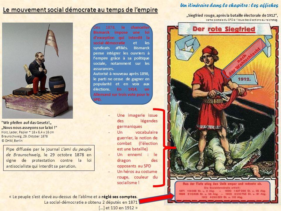 Un itinéraire dans le chapitre : les affiches Affiche du KPD - 1919Les Spartakistes, créés en 1916 autour de Rosa Luxemburg et Karl Liebknecht, se soulèvent contre la République de Weimar.