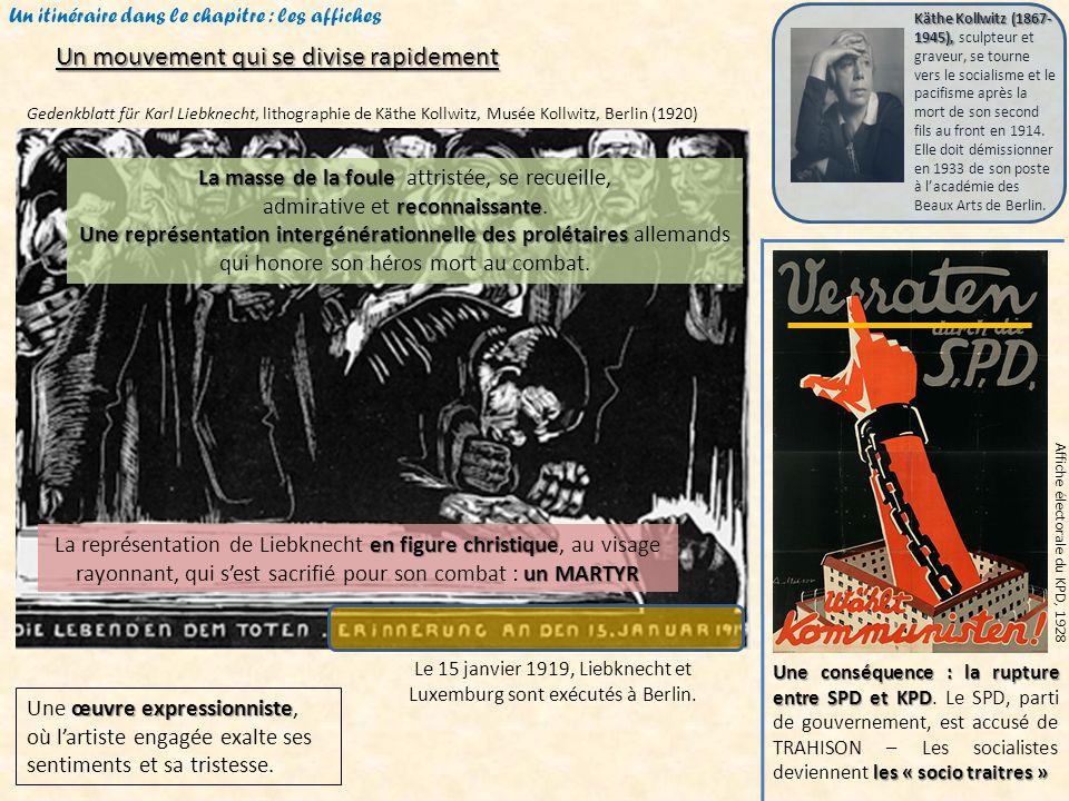 Un itinéraire dans le chapitre : les affiches Affiche électorale du SPD, 1932 « contre ».