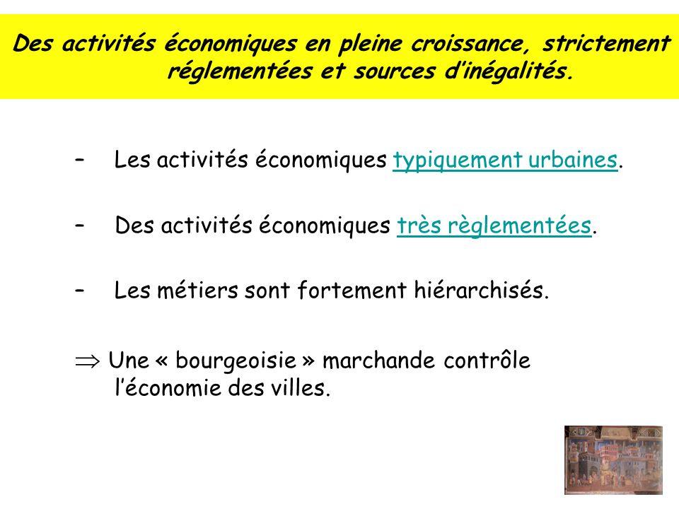Des activités économiques en pleine croissance, strictement réglementées et sources dinégalités.