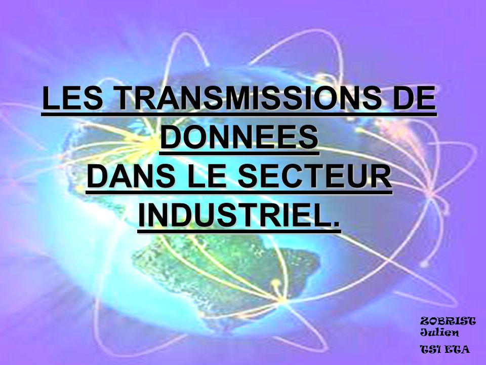 LES TRANSMISSIONS DE DONNEES DANS LE SECTEUR INDUSTRIEL. ZOBRIST Julien TS1 ETA
