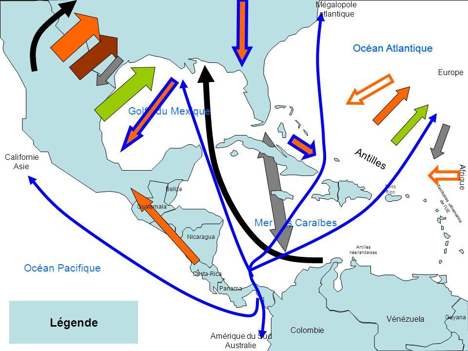 Mer des Caraïbes Porto Rico Territoires ultramarins de lUE Antilles néerlandaises Vénézuela Colombie Costa-Rica Nicaragua Guyana Belize Panama Guatema