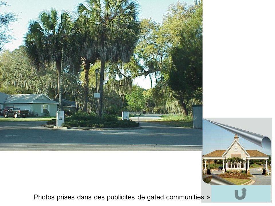 Photos prises dans des publicités de gated communities »