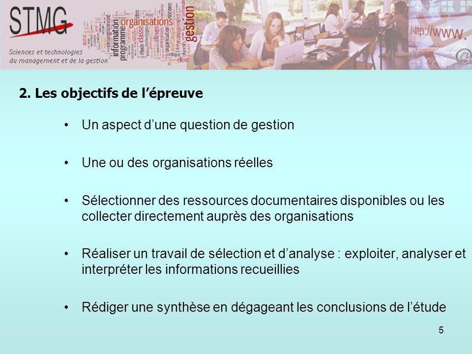 5 1. Un aspect dune question de gestion Une ou des organisations réelles Sélectionner des ressources documentaires disponibles ou les collecter direct