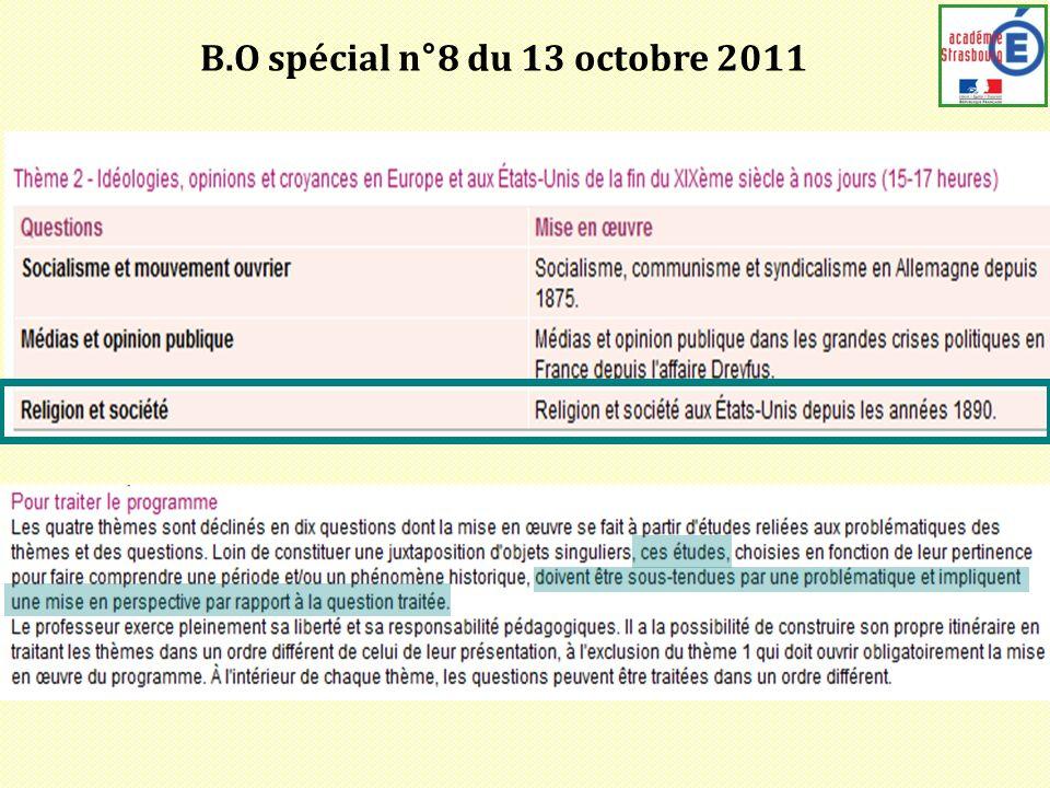 B.O spécial n°8 du 13 octobre 2011