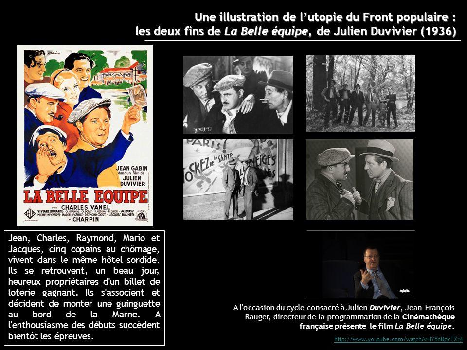 http://www.youtube.com/watch?v=IY8nBdcTXr4 A l'occasion du cycle consacré à Julien Duvivier, Jean-François Rauger, directeur de la programmation de la