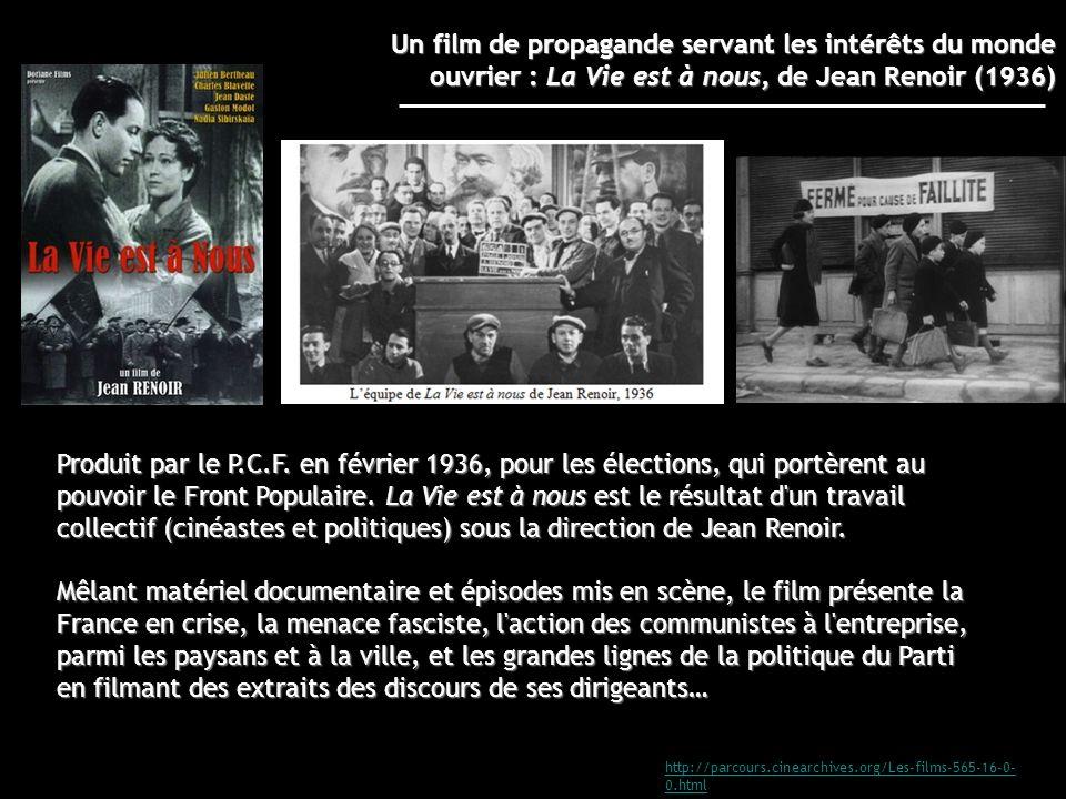 http://parcours.cinearchives.org/Les-films-565-16-0- 0.html Produit par le P.C.F. en février 1936, pour les élections, qui portèrent au pouvoir le Fro
