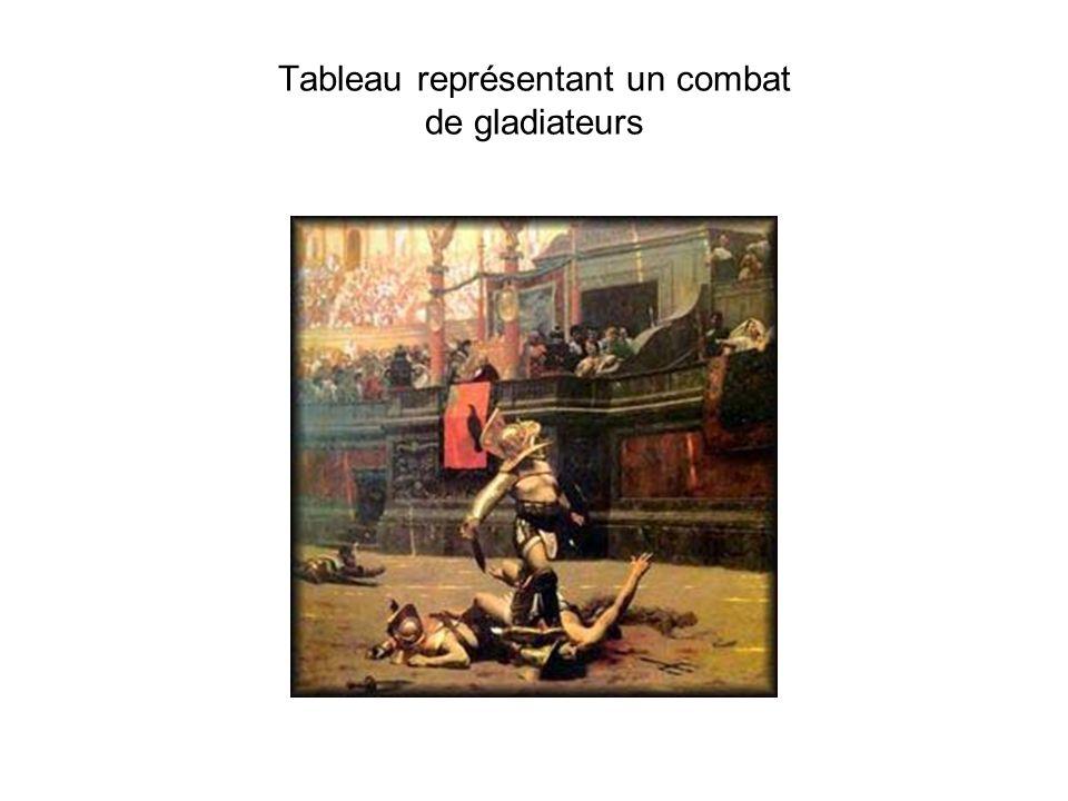 Tableau représentant un combat de gladiateurs