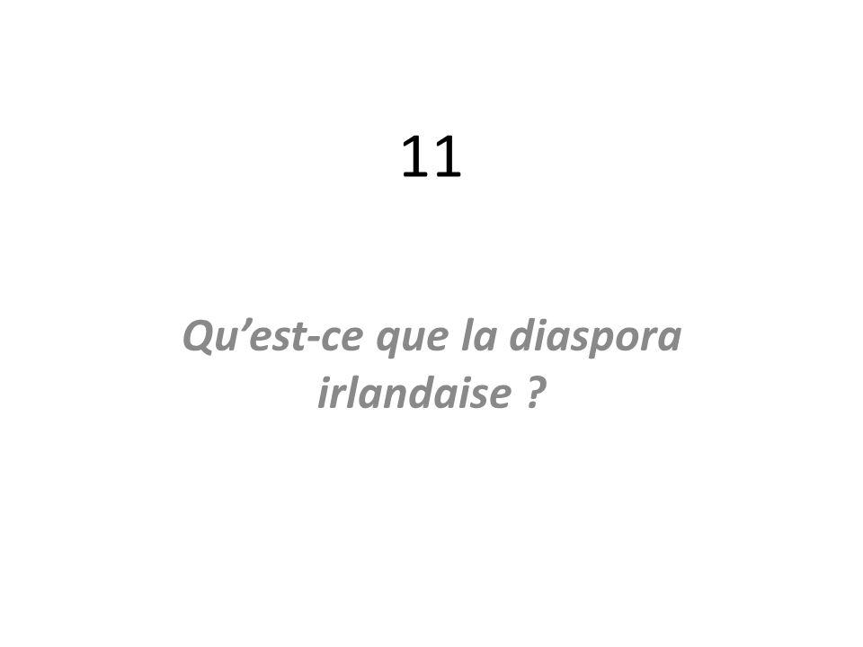 11 Quest-ce que la diaspora irlandaise ?