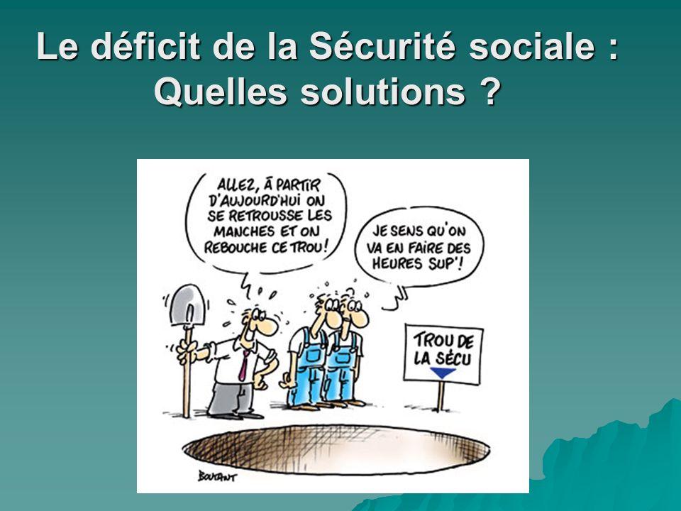 Le déficit de la Sécurité sociale : Quelles solutions ?