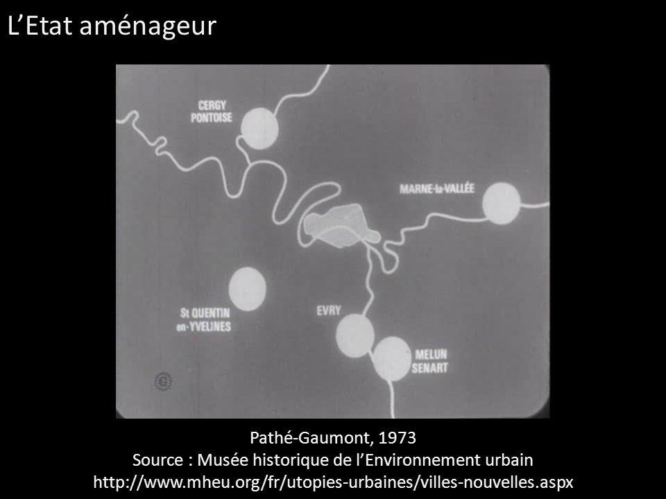 Pathé-Gaumont, 1973 Source : Musée historique de lEnvironnement urbain http://www.mheu.org/fr/utopies-urbaines/villes-nouvelles.aspx LEtat aménageur