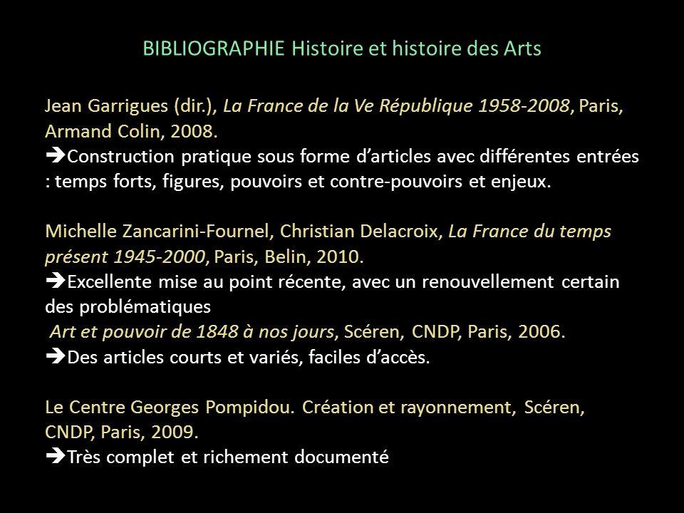 Jean Garrigues (dir.), La France de la Ve République 1958-2008, Paris, Armand Colin, 2008. Construction pratique sous forme darticles avec différentes