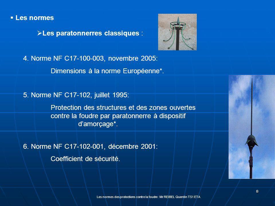 8 Les normes des protections contre la foudre : Mr REIBEL Quentin TS1 ETA 4.