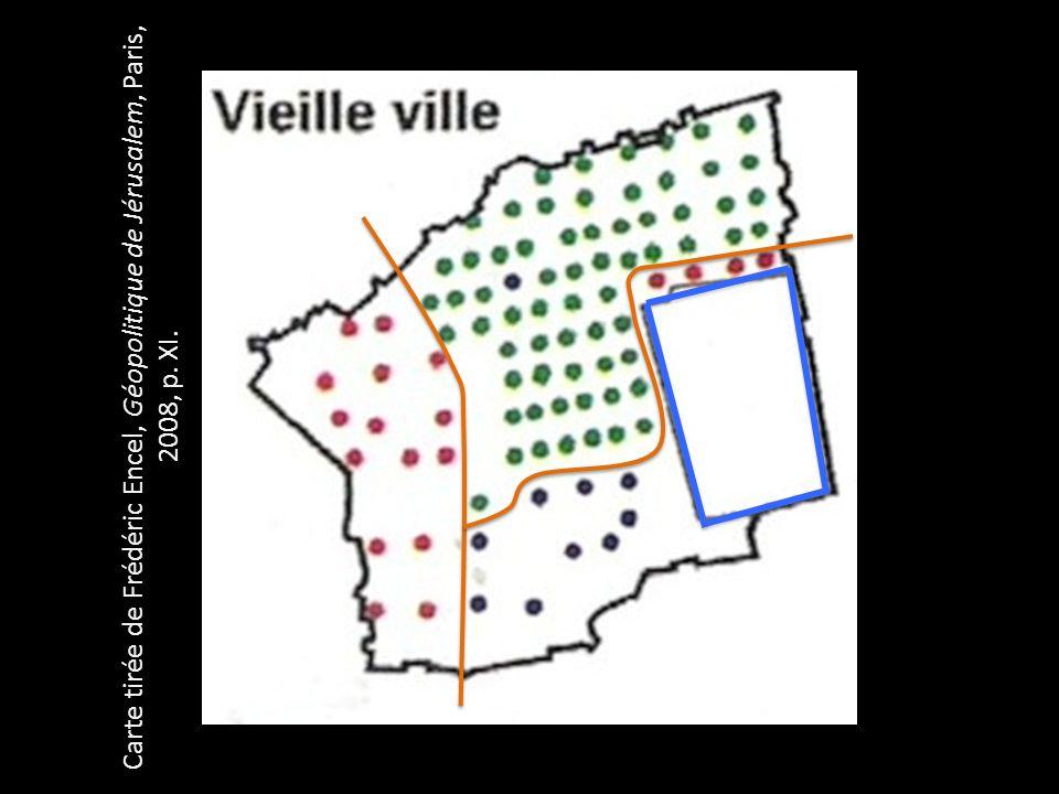Source : Frédéric Encel, Atlas géopolitique dIsraël, Autrement, 2012