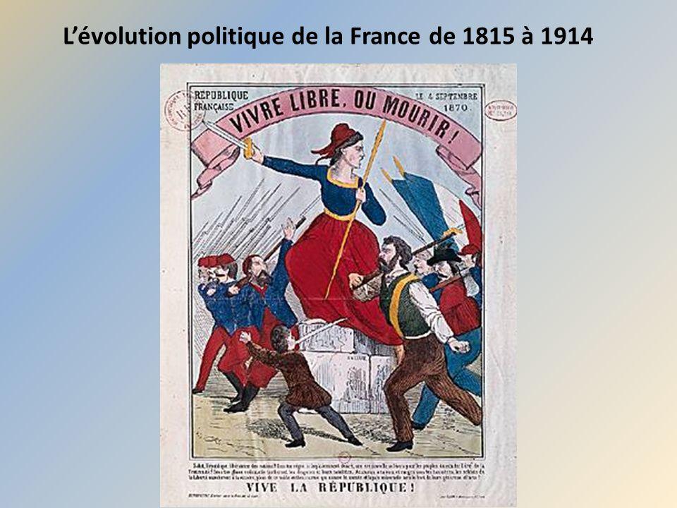 Lévolution politique de la France de 1815 à 1914