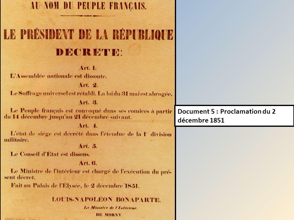 Document 5 : Proclamation du 2 décembre 1851