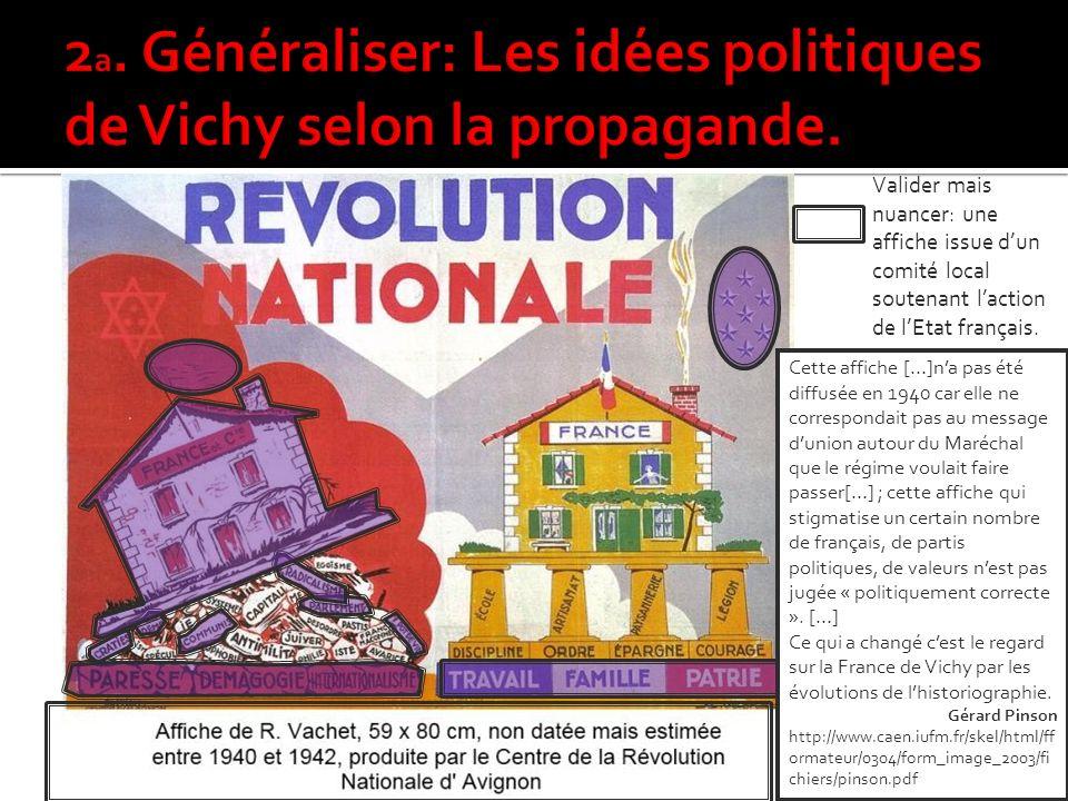 Un régime anti communiste liberticide antidémocratique, autoritaire et opposé à la République Valider mais nuancer: une affiche issue dun comité local soutenant laction de lEtat français.