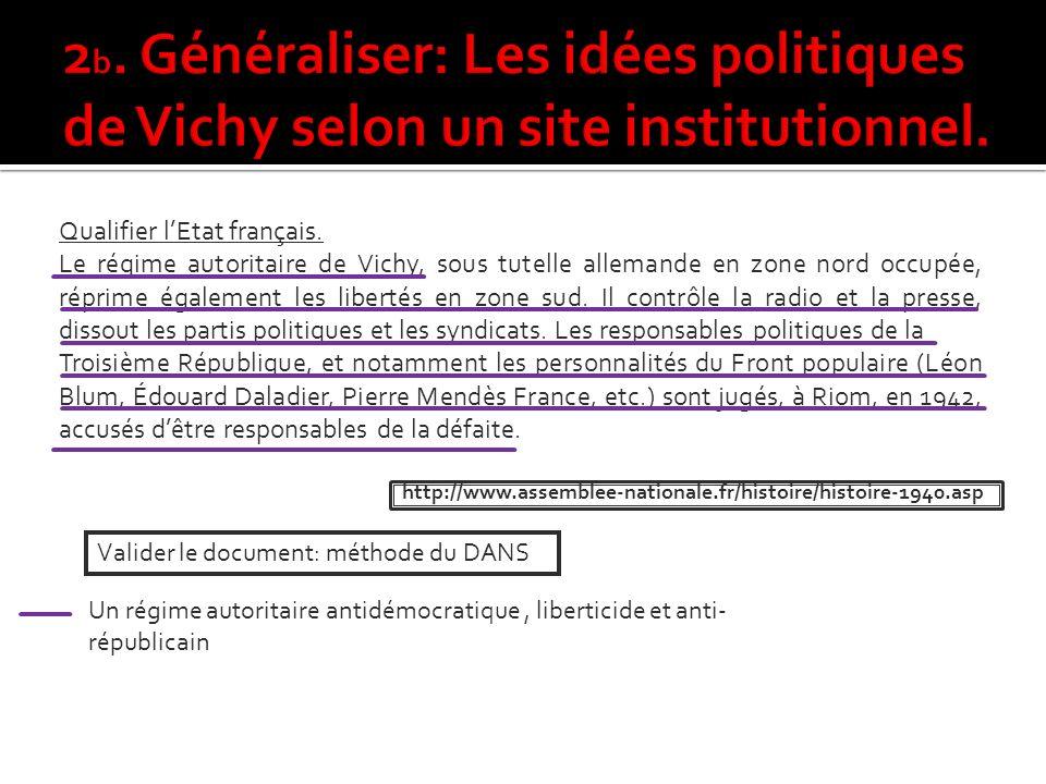 Qualifier lEtat français.