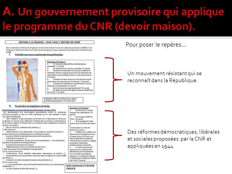 Un mouvement résistant qui se reconnaît dans la République.