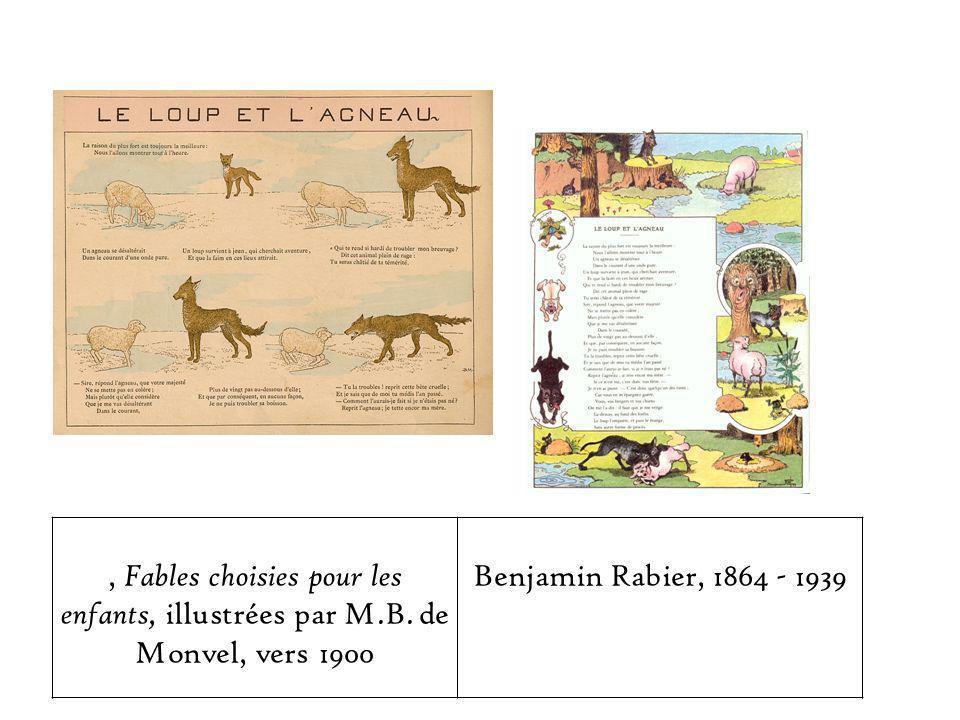 , Fables choisies pour les enfants, illustrées par M.B.