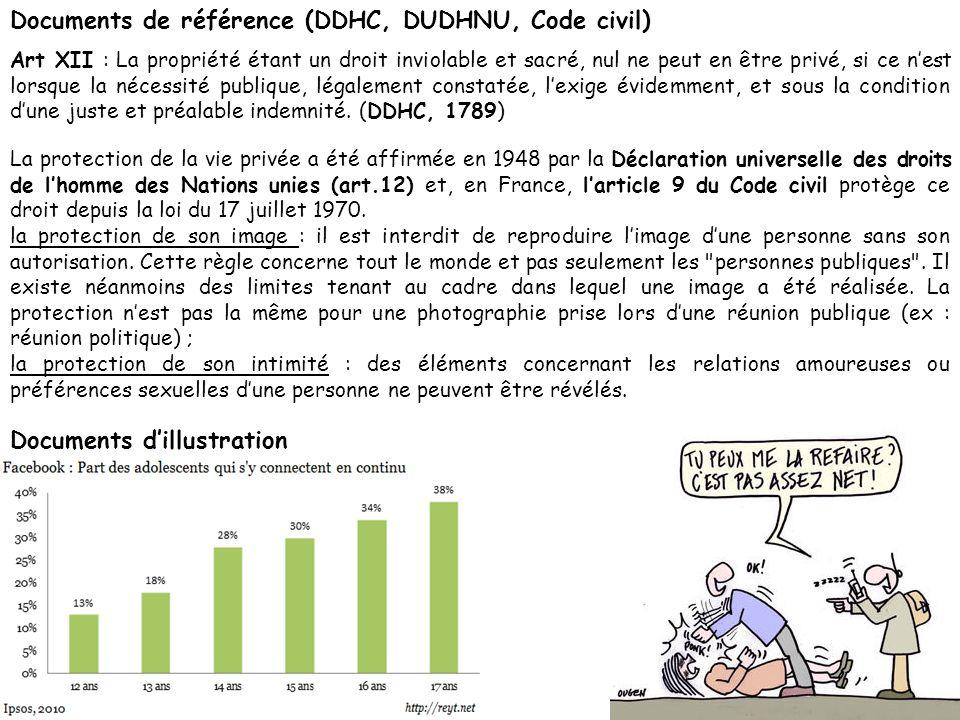 La protection de la vie privée a été affirmée en 1948 par la Déclaration universelle des droits de lhomme des Nations unies (art.12) et, en France, la