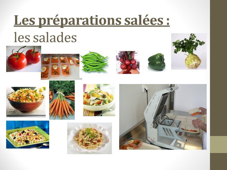 Les préparations salées : les salades