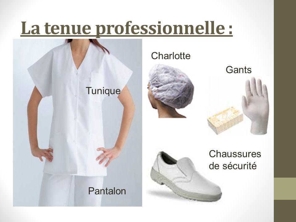 La tenue professionnelle : Charlotte Gants Chaussures de sécurité Tunique Pantalon