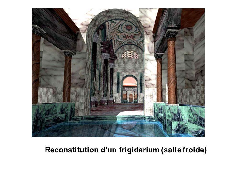 Reconstitution dun frigidarium (salle froide)