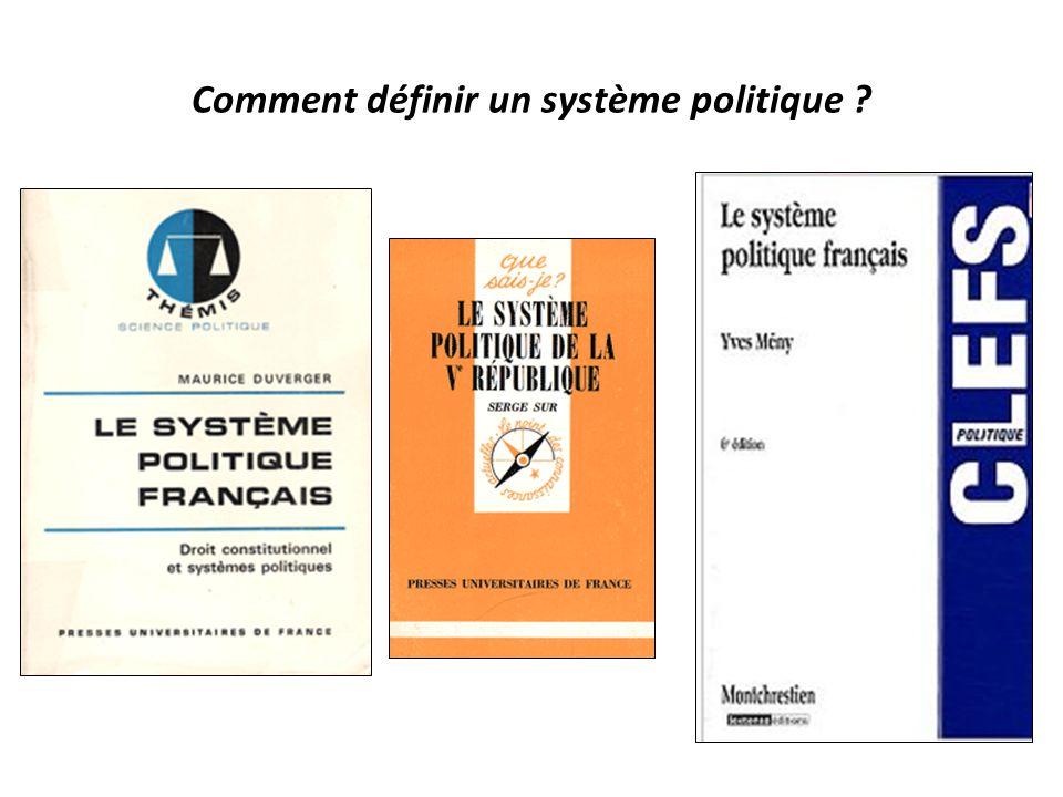 Comment définir un système politique ?