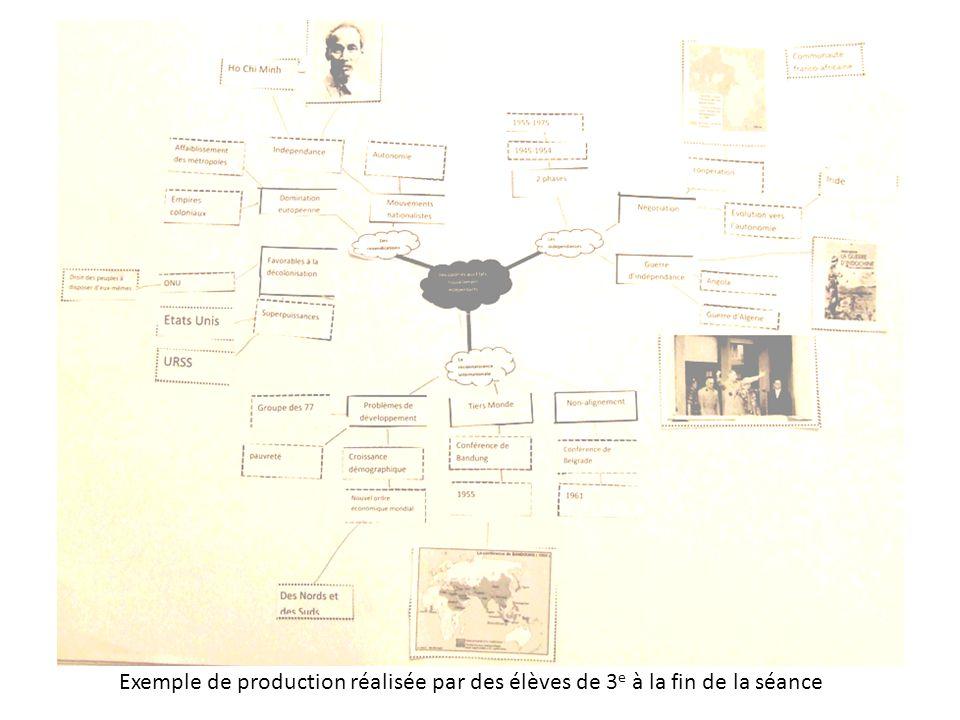Exemple de production réalisée par des élèves de 3 e à la fin de la séance