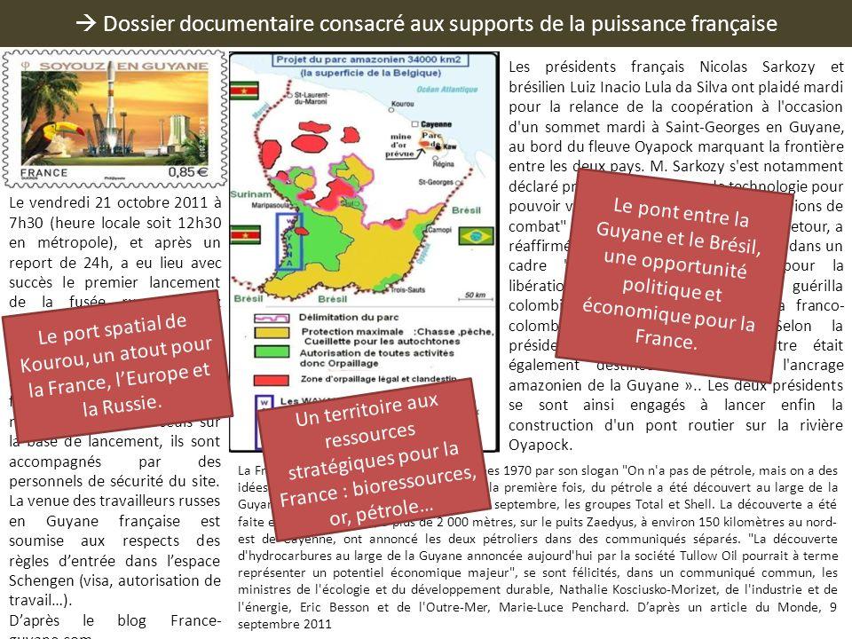 Dossier documentaire consacré aux supports de la puissance française La France, qui s'était illustrée dans les années 1970 par son slogan