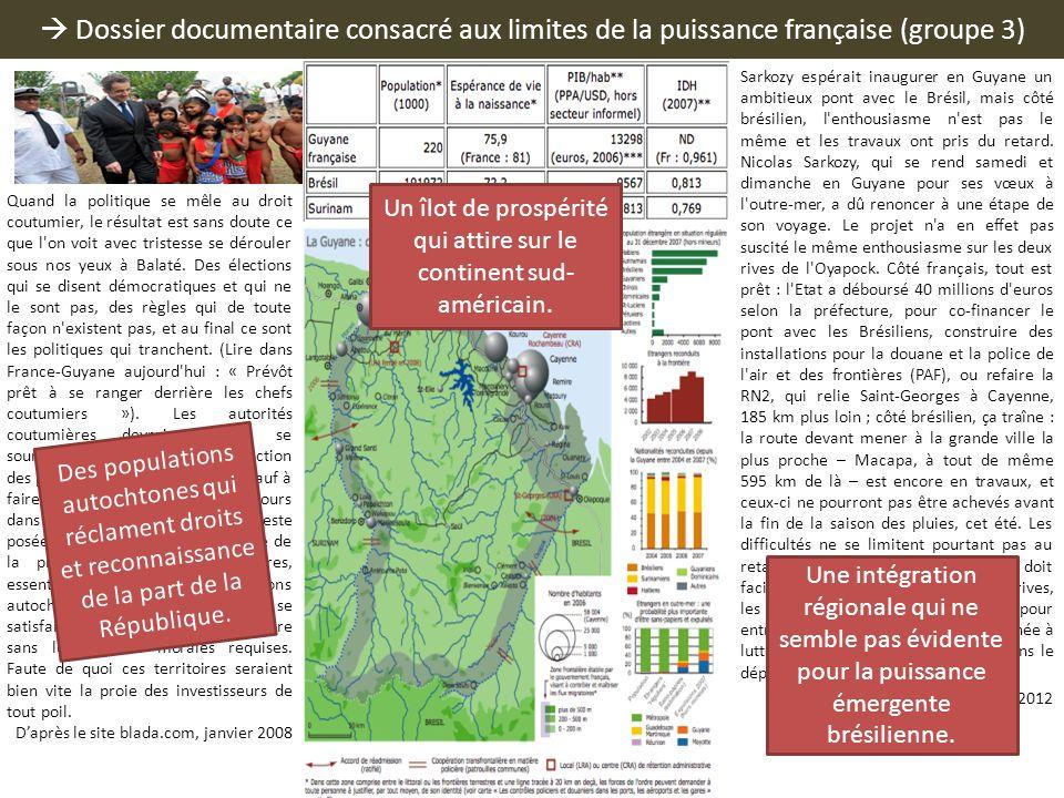 Dossier documentaire consacré aux limites de la puissance française (groupe 3) Quand la politique se mêle au droit coutumier, le résultat est sans dou