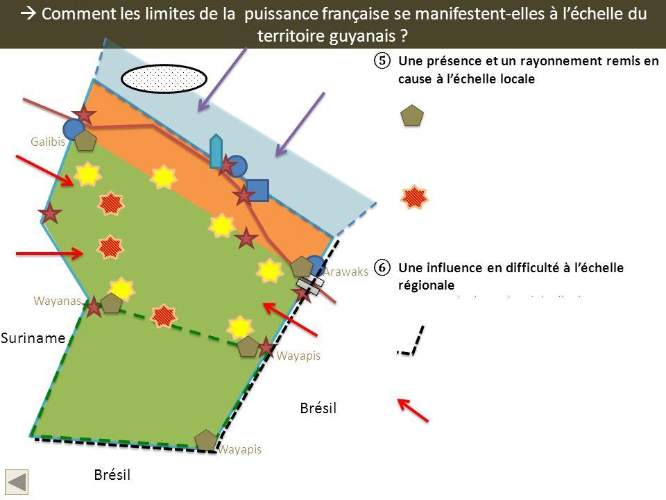 Comment les limites de la puissance française se manifestent-elles à léchelle du territoire guyanais ? Une présence et un rayonnement remis en cause à