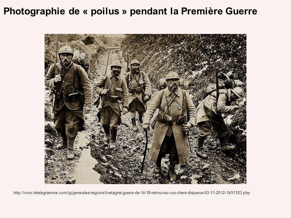 Photographie de « poilus » pendant la Première Guerre http://www.letelegramme.com/ig/generales/regions/bretagne/guerre-de-14-18-retrouvez-vos-chers-di