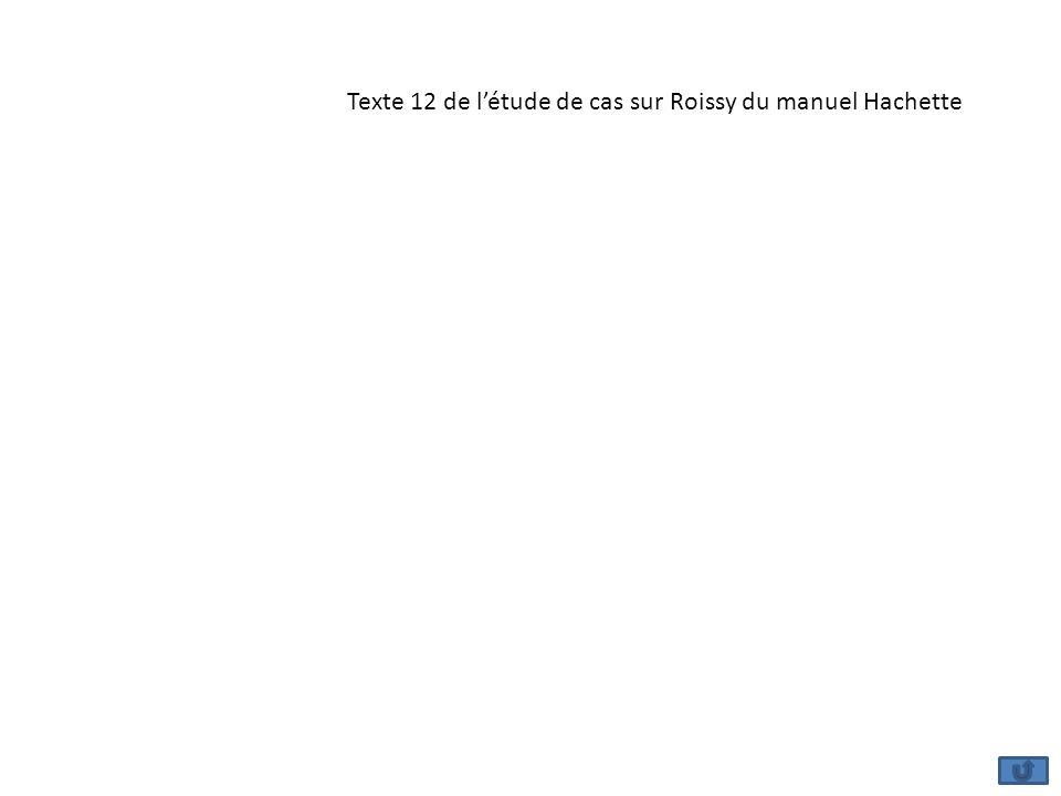 Texte 12 de létude de cas sur Roissy du manuel Hachette