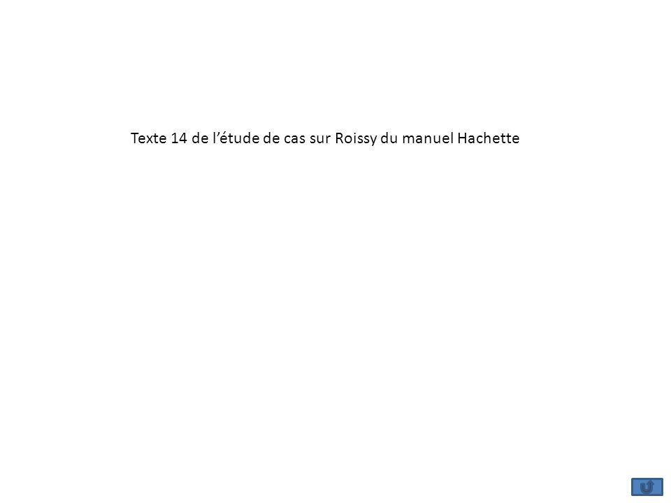 Texte 14 de létude de cas sur Roissy du manuel Hachette