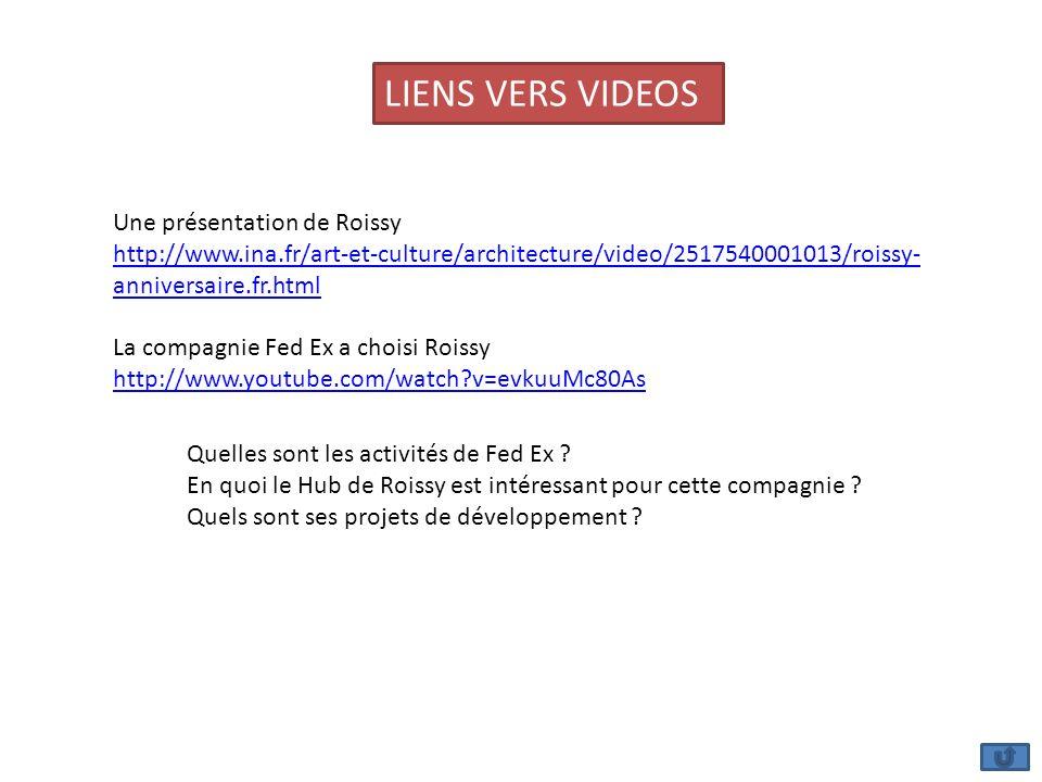 Une présentation de Roissy http://www.ina.fr/art-et-culture/architecture/video/2517540001013/roissy- anniversaire.fr.html La compagnie Fed Ex a choisi