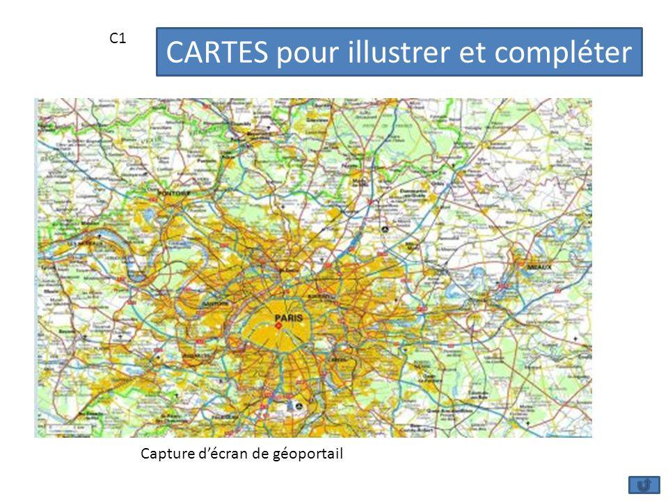 C1 Capture décran de géoportail CARTES pour illustrer et compléter